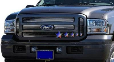Grilles - Custom Fit Grilles - APS - Ford Excursion APS Billet Grille - Upper - Aluminum - F65781A
