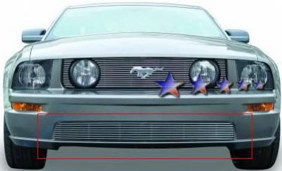 Grilles - Custom Fit Grilles - APS - Ford Mustang APS Billet Grille - Bumper - Aluminum - F66014A