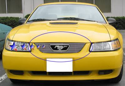 Grilles - Custom Fit Grilles - APS - Ford Mustang APS Billet Grille - with Logo Opening - Upper - Aluminum - F66021A
