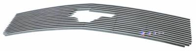 Grilles - Custom Fit Grilles - APS - Ford Mustang APS Billet Grille - with Logo Opening - Upper - Aluminum - F66022A