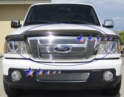 Grilles - Custom Fit Grilles - APS - Ford Ranger APS Billet Grille - Upper - Aluminum - F66027A