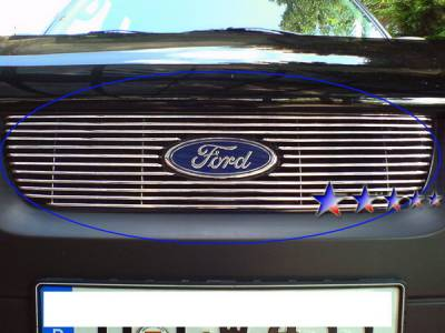 Grilles - Custom Fit Grilles - APS - Ford Escape APS Billet Grille - with Logo Opening - Upper - Aluminum - F66564A