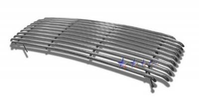 Grilles - Custom Fit Grilles - APS - Ford F550 APS Tubular Grille - Center without Logo Opening - Upper - Stainless Steel - F68005S