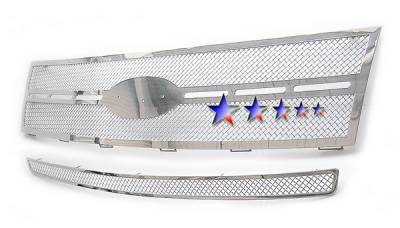 Grilles - Custom Fit Grilles - APS - Ford Edge APS Wire Mesh Grille - Upper - Stainless Steel - F75226T