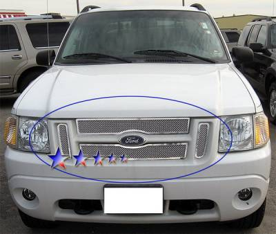 Grilles - Custom Fit Grilles - APS - Ford Explorer APS Wire Mesh Grille - Upper - Stainless Steel - F75323T