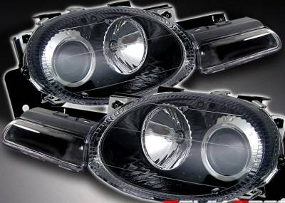 Headlights & Tail Lights - Headlights - X3 - JDM Black Pro Headlights With Signals