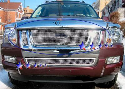 Grilles - Custom Fit Grilles - APS - Ford Explorer APS Wire Mesh Grille - Upper - Stainless Steel - F75528T