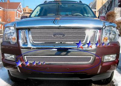 Grilles - Custom Fit Grilles - APS - Ford Explorer APS Wire Mesh Grille - Bumper - Stainless Steel - F75529T