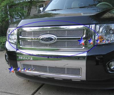 Grilles - Custom Fit Grilles - APS - Ford Escape APS Wire Mesh Grille - F75783T