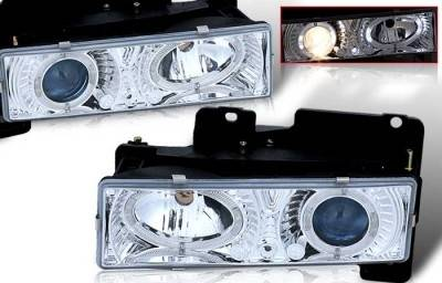 WinJet - Chevrolet CK Truck WinJet Headlight - Chrome & Blue - WJ10-0002-15