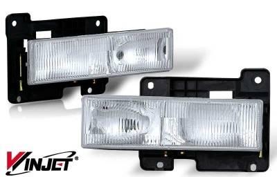 Headlights & Tail Lights - Headlights - WinJet - Chevrolet CK Truck WinJet OEM Headlight - WJ10-0054-01