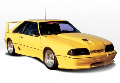 Body Kits - Hood Scoops - Wings West - Ford Mustang Wings West Dominator Hood Scoop - 890136