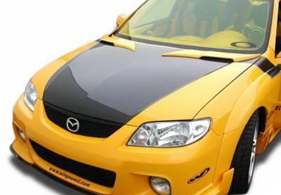 Body Kits - Hood Scoops - Wings West - Mazda Protege Wings West MPS Hood Bonnet - 2PC - 890674