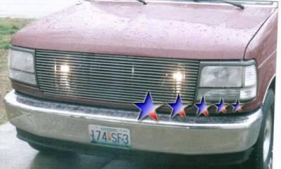Grilles - Custom Fit Grilles - APS - Ford Bronco APS Billet Grille - Upper - Aluminum - F85007A