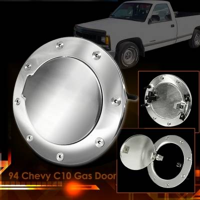 Accessories - Fuel Tank Caps - Custom Disco - GMC C10 Custom Disco Chrome Gas Door - GD-C1094S