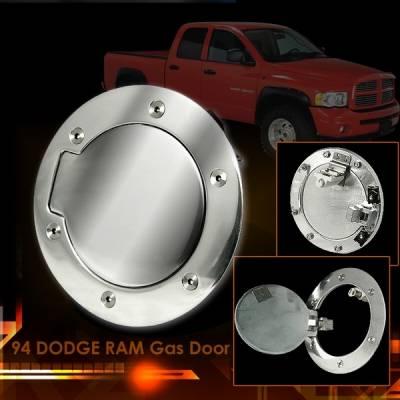 Accessories - Fuel Tank Caps - Custom Disco - Ford F250 Custom Disco Chrome Gas Door - GD-F15099S