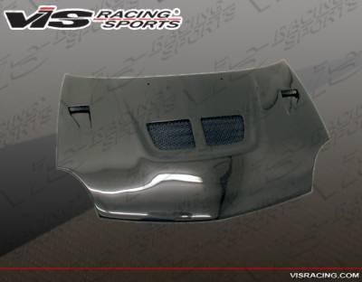 Neon 4Dr - Hoods - VIS Racing - Dodge Neon 4DR VIS Racing EVO Black Carbon Fiber Hood - 00DGNEO4DEV-010C