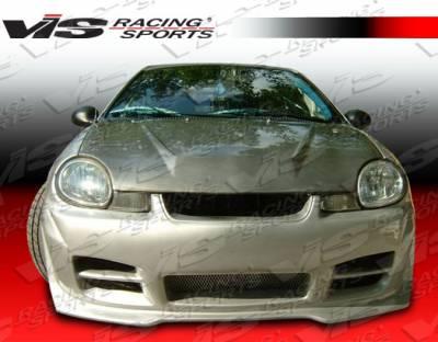 Neon 4Dr - Hoods - VIS Racing - Dodge Neon 4DR VIS Racing Invader Black Carbon Fiber Hood - 00DGNEO4DVS-010C