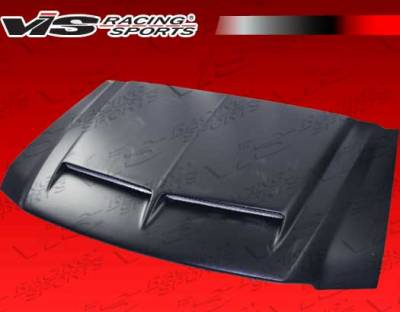 Excursion - Hoods - VIS Racing - Ford Excursion VIS Racing Fiberglass Cowl Induction 2 Hood - 00FDEXC4DCI2-010
