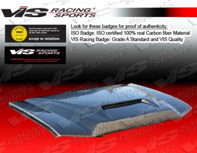 Excursion - Hoods - VIS Racing - Ford Excursion VIS Racing Fiberglass Outlaw Type 1 Hood - 00FDEXC4DOL1-010