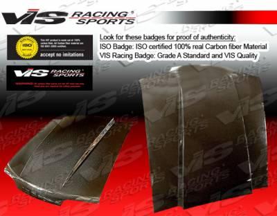Sierra - Hoods - VIS Racing - GMC Sierra VIS Racing Fiberglass Cowl Induction Hood - 00GMYUK4DCI-010