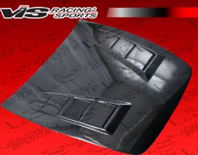 S2000 - Hoods - VIS Racing - Honda S2000 VIS Racing Terminator Black Carbon Fiber Hood - 00HDS2K2DTM-010C