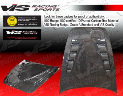 S2000 - Hoods - VIS Racing - Honda S2000 VIS Racing Techno R Black Carbon Fiber Hood - 00HDS2K2DTNR-010C