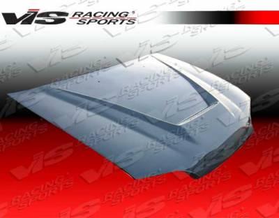 S2000 - Hoods - VIS Racing. - Honda S2000 VIS Racing Invader Black Carbon Fiber Hood - 00HDS2K2DVS-010C