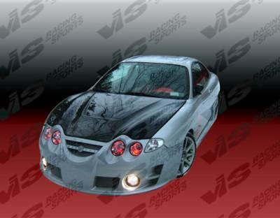 Tiburon - Hoods - VIS Racing - Hyundai Tiburon VIS Racing Invader Black Carbon Fiber Hood - 00HYTIB2DVS-010C