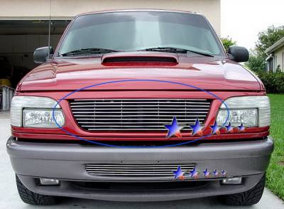 Grilles - Custom Fit Grilles - APS - Ford Explorer APS Billet Grille - Upper - Stainless Steel - F85023S