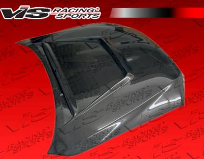 IS - Hoods - VIS Racing - Lexus IS VIS Racing Tracer Black Carbon Fiber Hood - 00LXIS34DTRA-010C