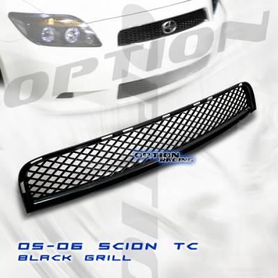 Grilles - Custom Fit Grilles - Custom - Scion TC Black Sport Front Upper Grill