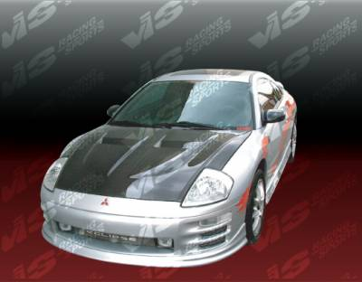 Eclipse - Hoods - VIS Racing - Mitsubishi Eclipse VIS Racing Xtreme GT Black Carbon Fiber Hood - 00MTECL2DGT-010C