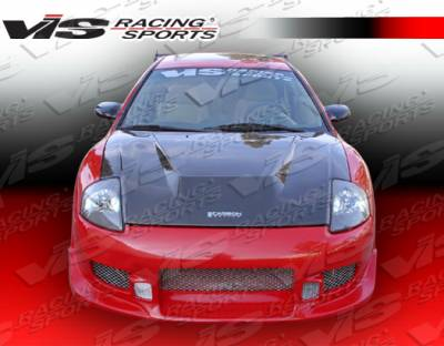Eclipse - Hoods - VIS Racing - Mitsubishi Eclipse VIS Racing Invader Black Carbon Fiber Hood - 00MTECL2DVS-010C