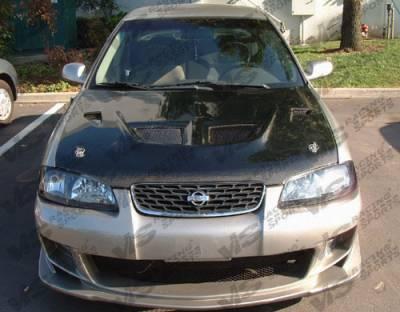 Sentra - Hoods - VIS Racing - Nissan Sentra VIS Racing EVO Black Carbon Fiber Hood - 00NSSEN4DEV-010C