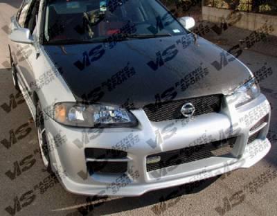 Sentra - Hoods - VIS Racing - Nissan Sentra VIS Racing OEM Black Carbon Fiber Hood - 00NSSEN4DOE-010C