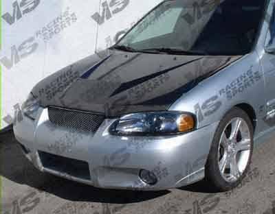 Sentra - Hoods - VIS Racing - Nissan Sentra VIS Racing Invader Black Carbon Fiber Hood - 00NSSEN4DVS-010C