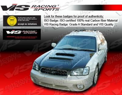 Legacy - Hoods - VIS Racing - Subaru Legacy VIS Racing V Line Black Carbon Fiber Hood - 00SBLEG4DVL-010C
