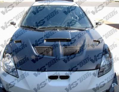 Celica - Hoods - VIS Racing - Toyota Celica VIS Racing EVO Black Carbon Fiber Hood - 00TYCEL2DEV-010C