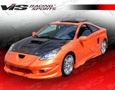 Celica - Hoods - VIS Racing - Toyota Celica VIS Racing Invader Black Carbon Fiber Hood - 00TYCEL2DVS-010C