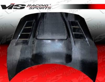 Celica - Hoods - VIS Racing - Toyota Celica VIS Racing Zyclone Black Carbon Fiber Hood - 00TYCEL2DZYC-010C