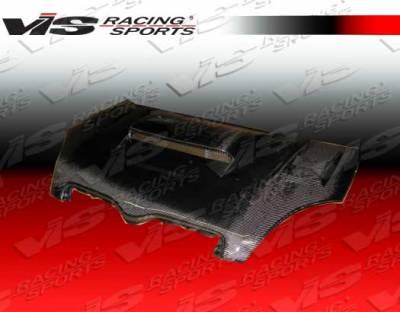Echo - Hoods - VIS Racing. - Toyota Echo VIS Racing Cyber Black Carbon Fiber Hood - 00TYECH4DJCY-010C