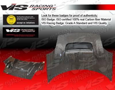 MRS - Hoods - VIS Racing - Toyota MRS VIS Racing V Line Black Carbon Fiber Hood - 00TYMRS2DVL-010C