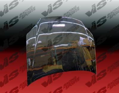 Protege - Hoods - VIS Racing - Mazda Protege VIS Racing OEM Black Carbon Fiber Hood - 01MZ3234DOE-010C