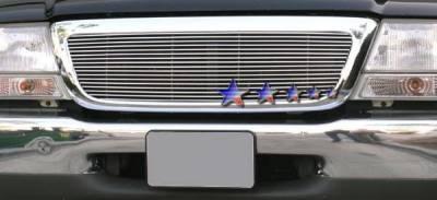 Grilles - Custom Fit Grilles - APS - Ford Ranger APS Billet Grille - Upper - Aluminum - F85047A