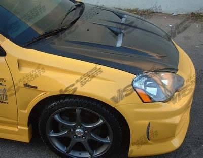 RSX - Hoods - VIS Racing - Acura RSX VIS Racing Xtreme GT Black Carbon Fiber Hood - 02ACRSX2DGT-010C