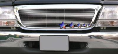 Grilles - Custom Fit Grilles - APS - Ford Ranger APS Billet Grille - Upper - Stainless Steel - F85047S