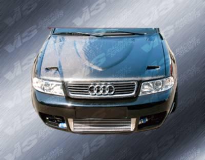 A4 - Hoods - VIS Racing - Audi A4 VIS Racing Euro R Black Carbon Fiber Hood - 02AUA44DEUR-010C