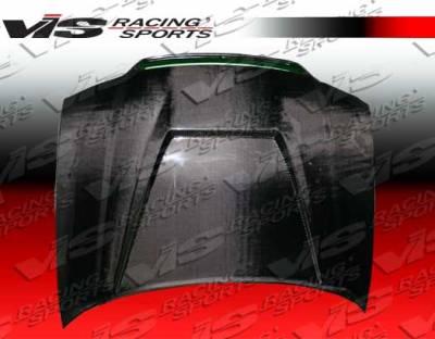 A4 - Hoods - VIS Racing - Audi A4 VIS Racing Invader Black Carbon Fiber Hood - 02AUA44DVS-010C