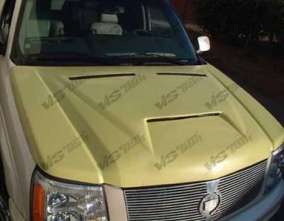 Escalade - Hoods - VIS Racing - Cadillac Escalade VIS Racing Fiberglass Outlaw Type 1 Hood - 02CAESC4DOL1-010